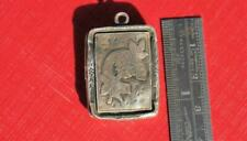 SWEET Antique VICTORIAN English SILVER Hallmarked LOCKET Pendant or Charm 1892