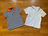 Gymboree Polo Toddler Boy Striped Solid Cotton Polo Shirts Tees 4T Lot of 2 EUC