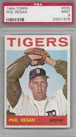 1964 Topps vintage baseball card #535 Phil Regan, Detroit Tigers PSA 9 MINT