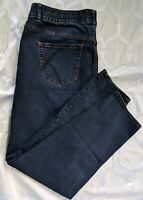 Womens Lane Bryant High Rise Straight Leg Stretch Blue Jeans Plus Size 22