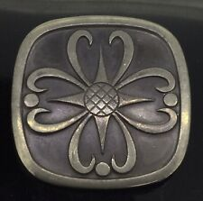 Vintage Pewter Brooch Pin Hallmarked HS Superb Large Celtic Style Heavy C.1950s