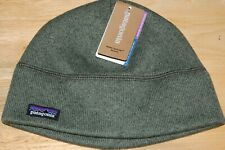 patagonia men's better sweater beanie small medium industrial green NEW