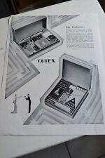 Ancienne publicité de presse - CUTEX / ONGLERIE ESTHETIQUE BEAUTE