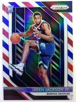 2018-19 Panini Red White Blue Prizm Jaren Jackson Jr Rookie RC #66, RWB