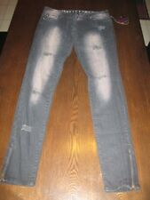 Size 0 Abbey Dawn by Avril Lavigne Smokey Black distressed Denim Skinny Jeans