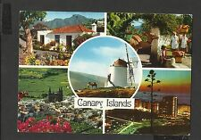 John Hinde Multiview Colour Postcard Canary Islands posted 1983