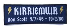 BON SCOTT Patch KIRRIEMUIR 1946 - 1980  AC/DC  Schottland Aufnäher BONFEST ACDC