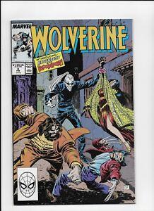 Wolverine  # 4 Very Fine Mavel Comics 1988 Series