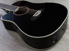 Oscar Schmidt OD312CE-BLH Left-Handed 12-String Acoustic/Electric Guitar Black
