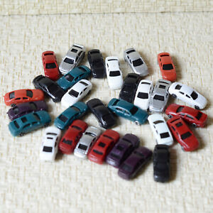 50 pcs Z Scale 1:220 painted Model Cars Z gauge