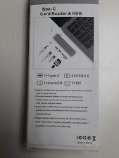 5 in 1 USB C Hub Type C SD TF Card Reader USB 3.0 Hub with Micro USB Power Port