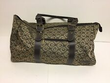 """Ciao Ciao! Carry on Overnight Duffle Gym Bag 22"""" Large Khaki & Brown"""