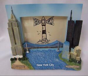 Pré 9/11 New York Ville Monde Commerce Centre Double Tours 3D Cadre Photo