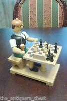 "Original Erzgebirgische Handarbeit smoker made in Germany "" Chess Player"",smoker"