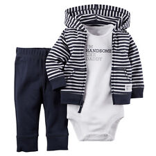 Casual Newborn 6 9 12 18 Months Cardigan Pant Set Baby Boy Kids Outfit Clothes