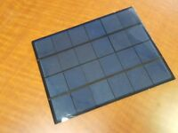 5 Watt solar panel mini small cells, 6 volt, Charger, Motor, Light, sun energy