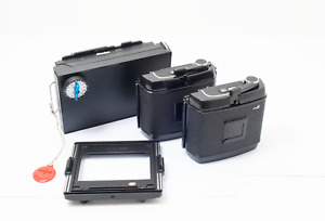 2x Mamiya RB67 Pro S 120 220  film backs + Polaroid back+ mamiya press plate