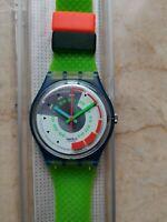 """Orologio Swatch Standard Caballero Modelo """"Schnell"""" GN117 Año 1992 Nuevo Raro"""