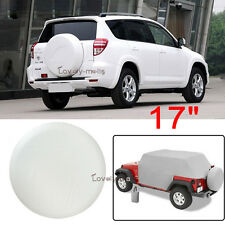 "2016 17"" Spare Wheel Tire Cover White For Toyota FJ Cruiser Tire Cover 32""-33.5"""
