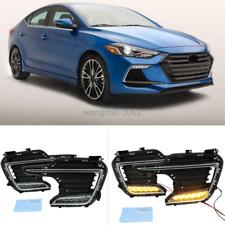 For Hyundai Elantra Sport 2017-18 LED Front Fog Lights / Turn Signal Lights Kit