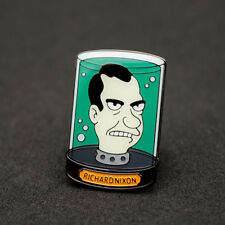 "FUTURAMA TV Series Richard Nixon Head in Jar 1"" Metal Pin"