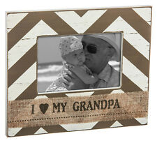 """ I LOVE MY GRANDPA "" Shabby Chic Style - Wooden Photo Frame"