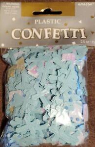 Easter/Christening/ Religious LIGHT BLUE Crosses & Bibles - Confetti 2.5 oz