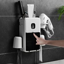 Portable Toothbrush Holder Dispenser Organizer Home Bathroom Storage Rack Decor