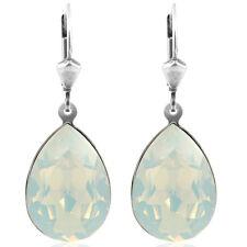 Ohrringe mit Kristallen von Swarovski® White Opal Silber NOBEL SCHMUCK