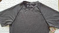 Reebok Mens Crew Athletic Training Shirt Mesh Textured Heather Gray sz S NWT$45