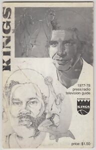 1977/78 KANSAS CITY KINGS OFFICIAL PRESS RADIO TV GUIDE PROGRAM VG CONDITION