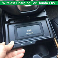 Car QI Wireless Phone Charger Panel Holder For Honda CRV CR-V 2017 2018 2019