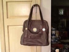 Rare GUSTTO Gray LEATHER Shoulder Bag ~ VERY NICE!