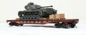 Atlas 52 Ft. Flatcar with Army Tank - Pennsylvania 469667 - O Scale, 2-Rail
