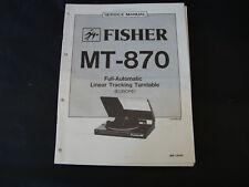 Original Service Manual  Fisher MT-870
