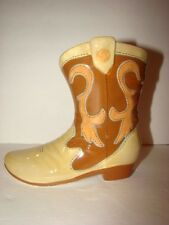 Ceramic Western Cowboy Boot Bank - Item # 32549