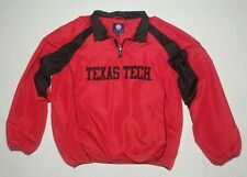 Texas Tech Pullover Windbreaker Size L Large Red Raiders Excellent Condition