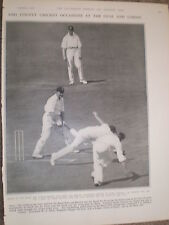 Photo article Cricket Captain C H Congdon bats Navy v Air Force 1928 ref Y2