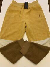 Nike Air Jordan Sherpa Jogger Brown Gold Beige BQ6955-702 Mens Size Medium New