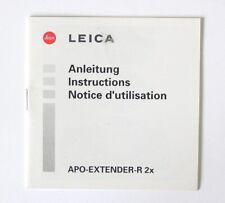 Leica APO-Extender-R 2x Instruction Manual (German, English, French)