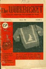 1954 The Workbasket Magazine: Bunny Sweater/Tatted Doily/Ladies' Vest/Cloche