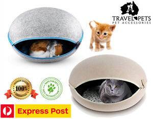 Cat Cave Bed Hiding Puppy Cushion House Pet Dog Soft Warm Kennel Mat Blanket