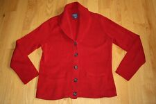 EUC Women's CHAPS CLASSICS Cardigan Sweater Button Up RED  Size XL