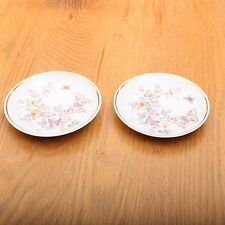 2 Vintage Avon Hand Decorated With 22K Gold 1979 Butterfly Plates