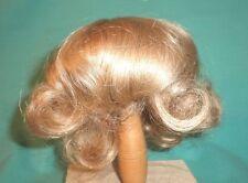 """Peluca de muñeca/cabello humano 11"""" a 12"""" rubia, paje con rizos en el cuello"""
