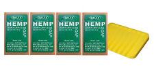 Authentic Green Hemp Australia 4 Pack Lemongrass Hemp Seed Soap Bars Aussie Made