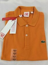 Lacoste Men's L!VE Polo Shirt ULTRA SLIM FIT NWT Chutney Orange Size EU 9 US 3XL