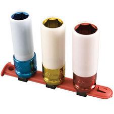 "Sunex 1/2"" Dr 3 Pc Metric Extra Thin Wall Wheel Protector Impact Socket Set 2842"