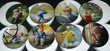 Set of 8 Danbury Mint Collector Plates Donald Zolan Wonders of Youth Mib