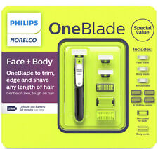 Philips Norelco OneBlade Face + Body Electric Trimmer and Shaver QP2630/75